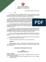 Res. N° 136-2010-JNE.- Reglamento de propaganda electoral