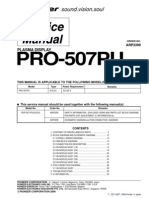 Pioneer Pro-507pu Series Parts List, Service Manual No Schematics