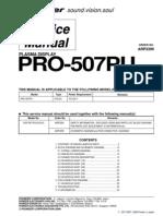 Pioneer Pro-507pu Series Parts List, Service Manual No Schematics