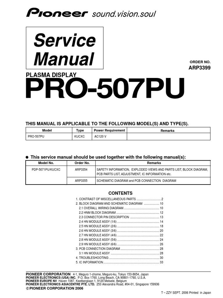 1511536637?v=1 pioneer pro 507pu series parts list, service manual no schematics honda pioneer 1000 parts diagram at gsmx.co