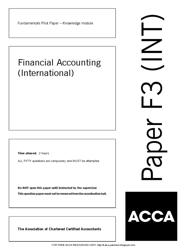 Buy acca past papers