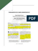Fundamentos Saber Administrativo Rvta ESAN Peru 2003