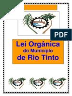 Lei Organica Municipio de Rio Tinto