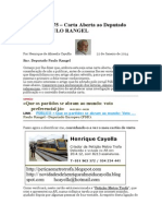 Crónica Nº 175 - Carta Aberta ao Deputado Europeu PAULO RANGEL.