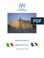 IFA 2014 - Bilateral Meeting ITALIAN and FRENCH Branches