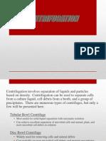 Centrifugation (Separation Processes)