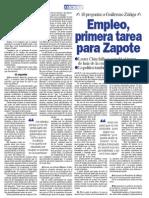 10 preguntas a Guillermo Zúñiga - Empleo, primera tarea para Zapote