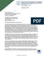 NMFS crab status letter