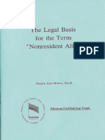 Legal Basis for Term Nr Alien