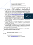 Athletes Acknowledgement and Agreement Form - Donetsk