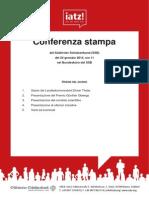 Pressemappe Günther-Obwegs-Preis (Italienisch)