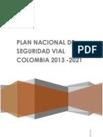 Plan Nacional de Seguridad Vial Colombia 2013-2021