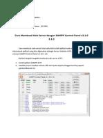 Cara Membuat Web Server Dengan XAMPP Control Panel v3