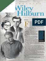 Remembering Wiley Hilburn 1938-2014