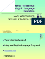 Developmental Perspective on Technology in Language Education