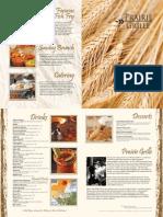 Prairie Grille Menu 2014