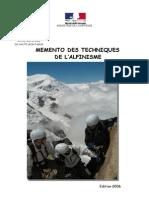 Memento Des Techniques d Alpinisme