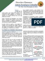 Boletin 4 de Derechos Humanos.  Noviembre2013