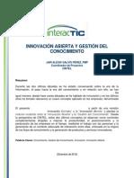 Articulo Innovacion Abierta y Gestion Del Conocimiento-jair Galvisvpublicacion Final Cintel