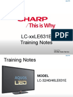 Sharp_lc-32le631e, Le40le631e_le46le631e Led Tv Training Manual