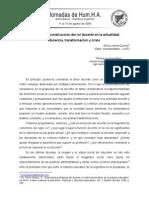 Propuesta de Construccion Del Rol Docente en La Actualidad. Docencia, Transformacion y Crisis - Alicia Lorena Quirolo