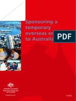 Sponsoring a Temporary Overseas Employee to Australia