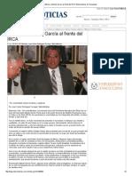 24-01-2014 'Ratifican a Moisés García al frente del IRCA'.