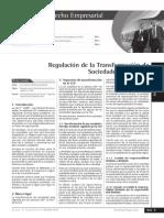 Regulacion de La Transformacion de Sociedades en El Peru