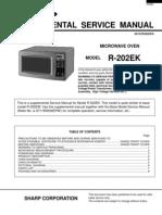 Microondas Sharp R202EK