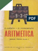ARITMETICA - manual pentru clasa I din 1959