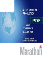 Diesel vs. gasoline production