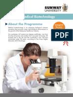 BSc (Hons) Medical Biotechnology Flyer