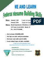 Federal Resume Building Skills