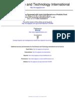 Evaluation of Peanut Flour Fermented with Lactic Acid Bacteria as a Probiotic Food (Evaluación de la harina de maní fermentados con las bacterias del ácido láctico como un alimento probiótico