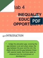 BAB 4 Ketaksammaan Peluang Pendidikan