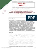 ¿Qué conocimiento(s)_ Reflexiones sobre las políticas de conocimiento, el campo académico, y el movimiento indígena ecuatoriano