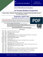 2014 Norman Bethune Program (Draft)