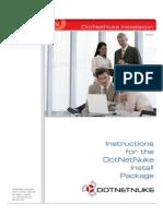 Dot Net Nuke Install Package Installation Instructions 052609