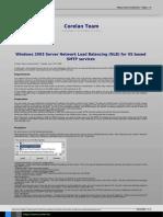 Windows 2003 Server Network Load Balancing Nlb for Iis Based Smtp Services