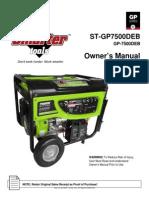 7500 Deb Generator Manual