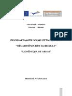 Programet Master Ne Fakultetin e Edukimit (1)