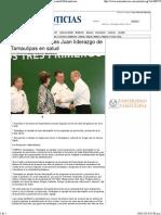 24-01-14 Reconoce Mercedes Juan Liderazgo de Tamaulipas en Salud Metronoticias de Tamaulipas