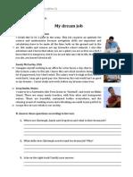Ficha 2 'My Dream Job' (Enunciado)