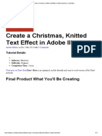 Create a Christmas, Knitted Text Effect in Adobe Illustrator _ Vectortuts+