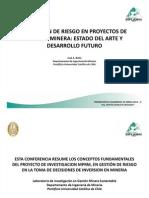Dr Jose Antonio Botin-LA GESTIÓN DE RIESGO EN PROYECTOS DE GESTION MINERA