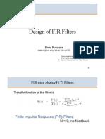 Design of FIR Filters 2