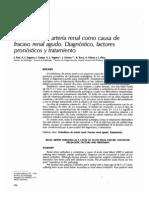 Embolismo de La Arteria Renal Como Causa de IR