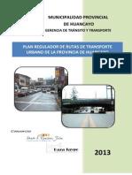 Plan Regulador de Rutas de Transporte Urbano de La Provincia de Huancayo