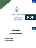 J2SE - Core Java - PG-DAC - Session- 6v1