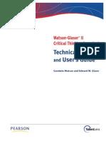 Watson Glaser II Technical Manual